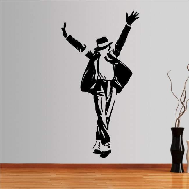 Αυτοκόλλητο τοίχου Michael Jackson figure 4