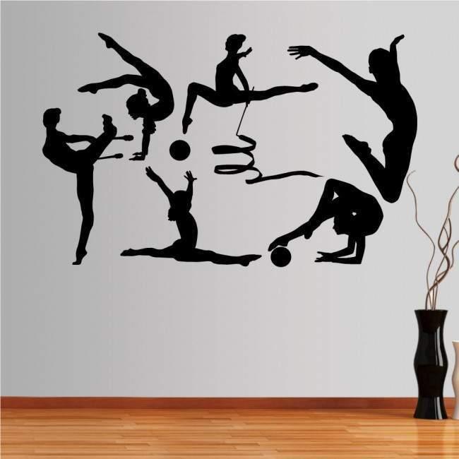 Αυτοκόλλητο τοίχου Ρυθμική γυμναστική, συλλογή αγωνισμάτων