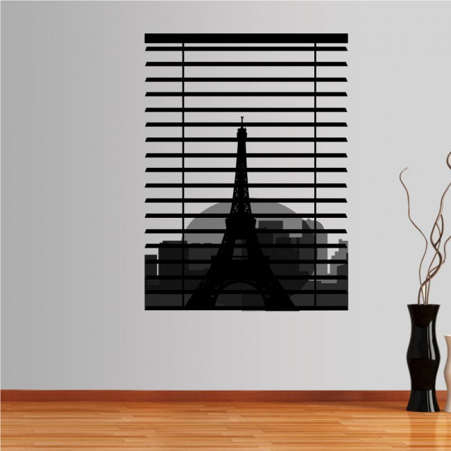 Αυτοκόλλητο τοίχου πύργος του Άιφελ, Παρίσι. Με θέα τον Σηκουάνα