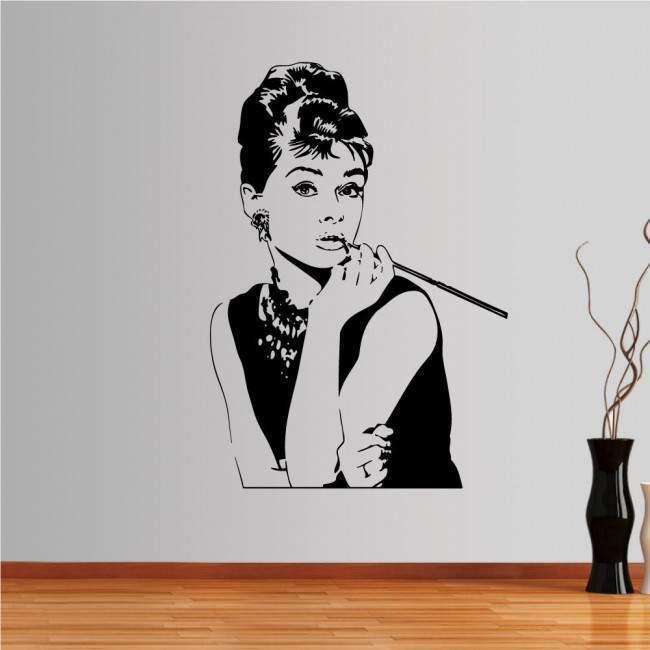 Αυτοκόλλητο τοίχου Audrey Hepburn