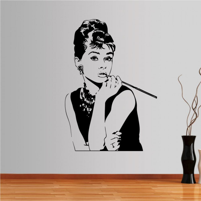 Wall stickers Audrey Hepburn