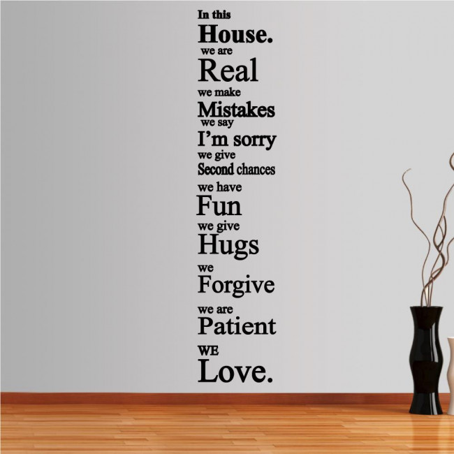 Wall stickers phrases. In this house 3
