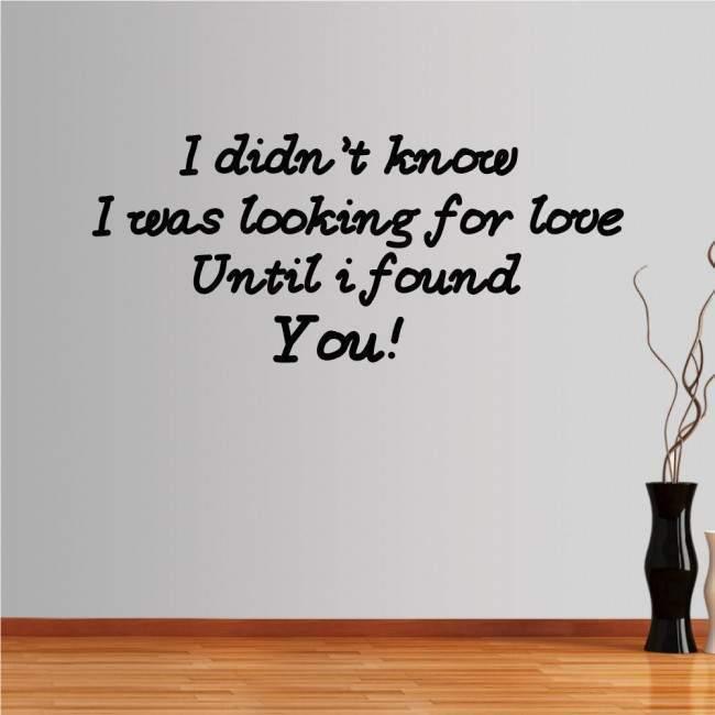 Αυτοκόλλητο τοίχου φράσεις. Looking for love