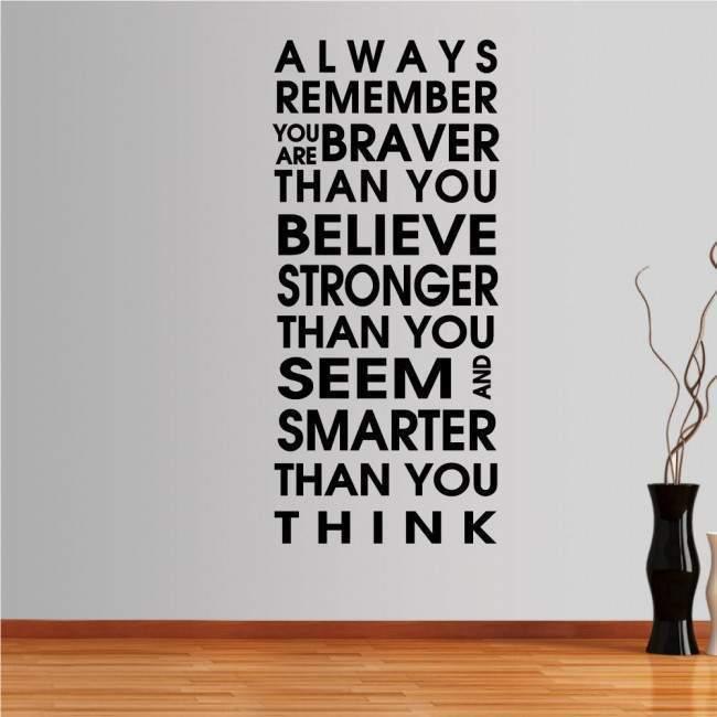 Αυτοκόλλητο τοίχου φράσεις. Always remember