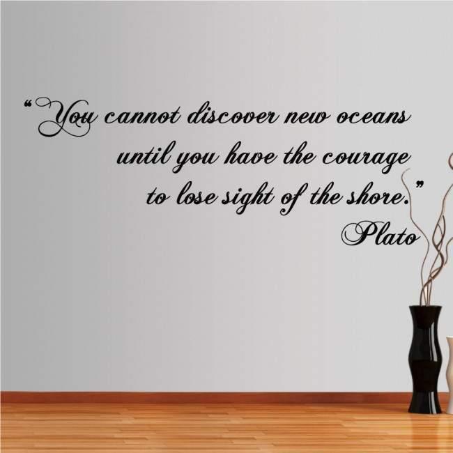 Αυτοκόλλητο τοίχου φράσεις. You cannot discover new oceans... , Plato