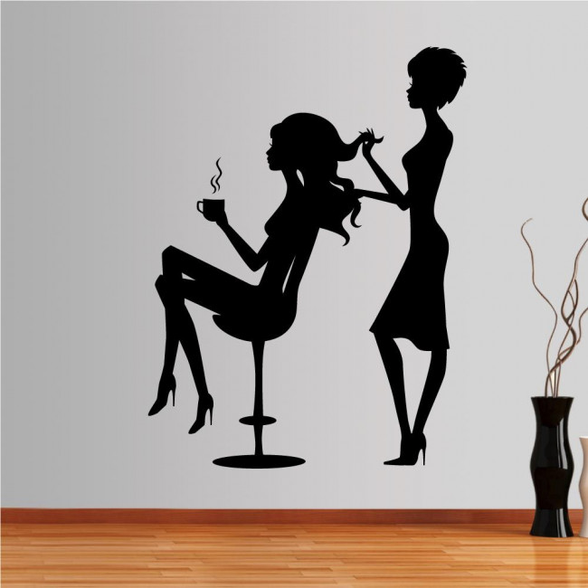 Wall stickers Female figures, hairdresser