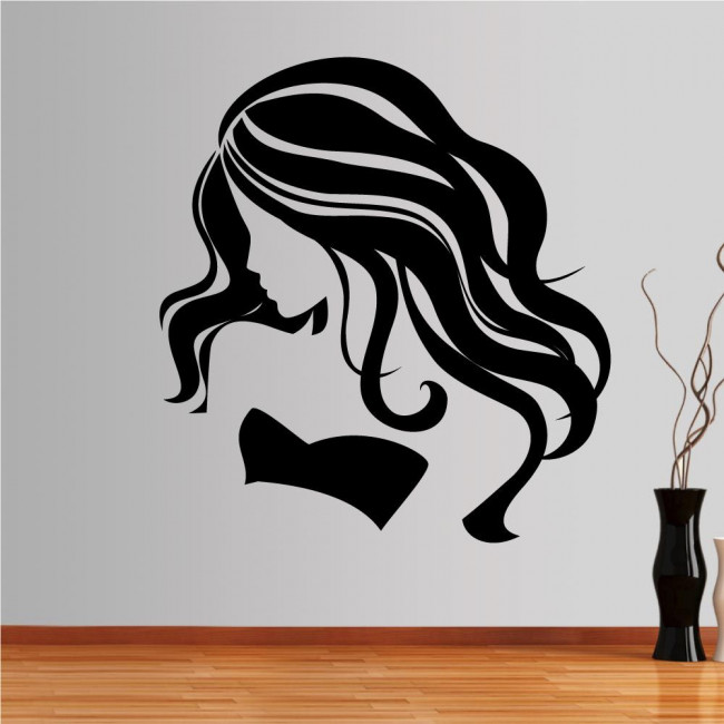 Wall stickers Female figure with long hair