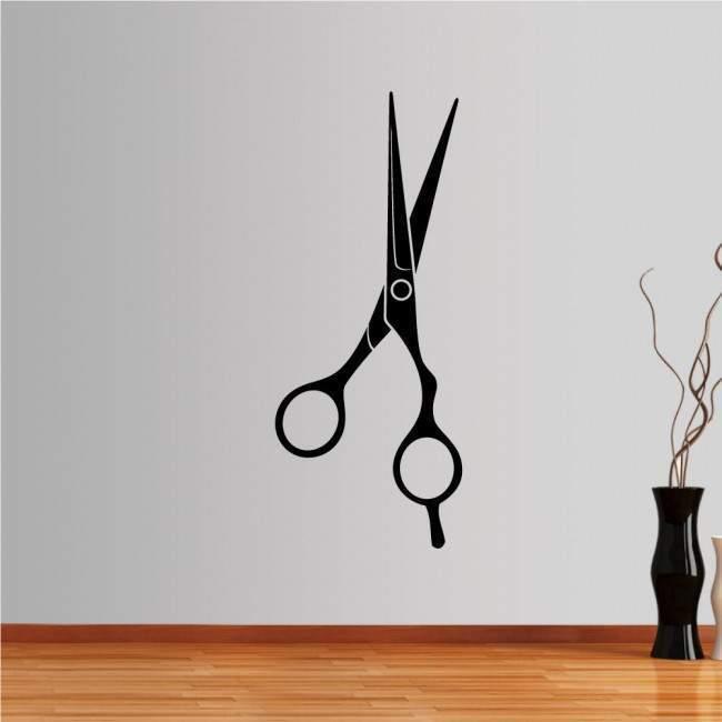 Hair salon scissor wall sticker