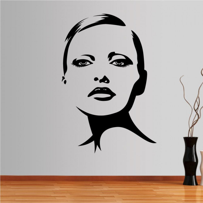 Wall stickers Female face, Face