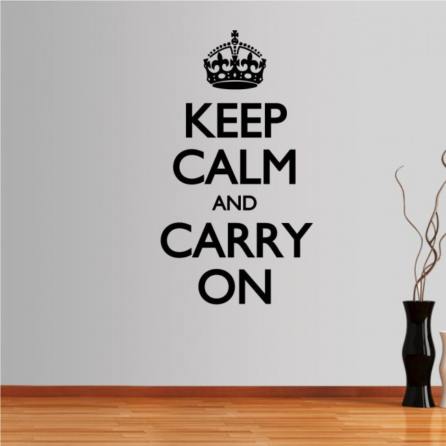 Wall stickers phrases. Keep Calm and carry on