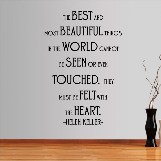 Wall stickers phrases. The best and most beutifull things