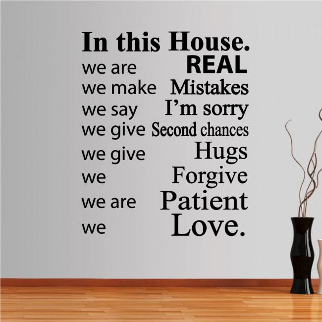 Wall stickers phrases. In this house 4