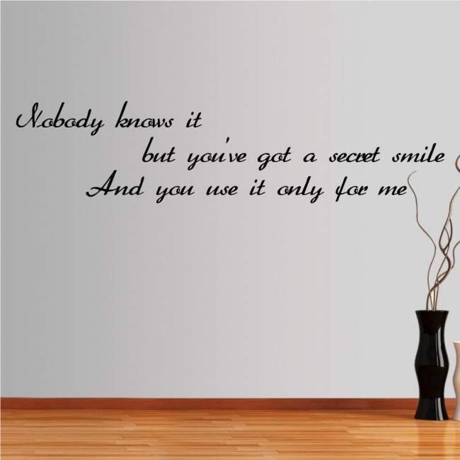 Αυτοκόλλητο τοίχου φράσεις. Nobody knows it