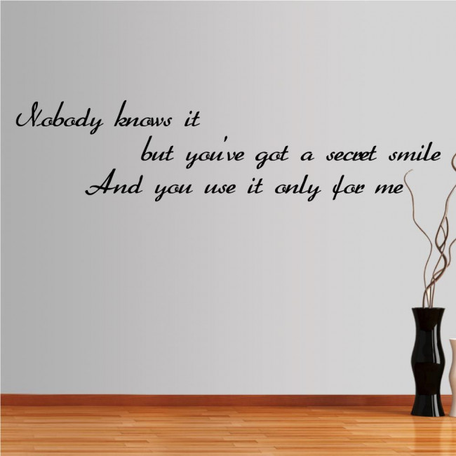 Wall stickers phrases. Nobody knows it