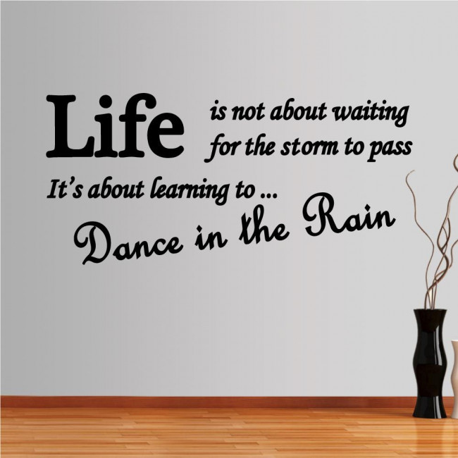 Wall stickers phrases. Dance in the rain