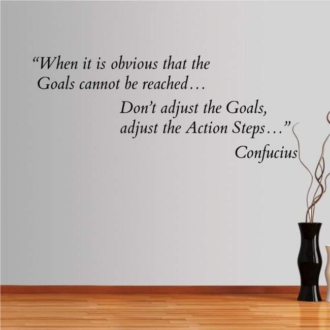 Αυτοκόλλητο τοίχου φράσεις. When it is obvious... Confucius