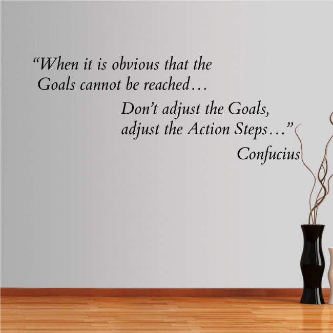 Wall stickers phrases. When it is obvious... Confucius