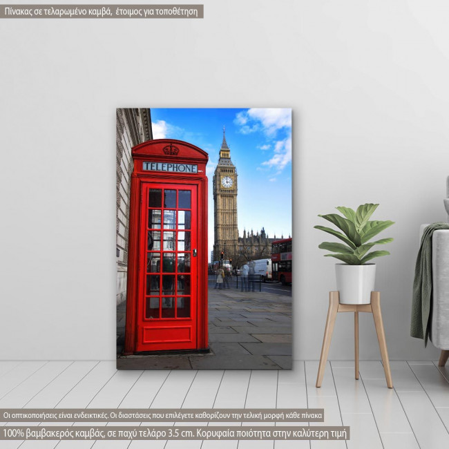 Canvas print English telephone booth