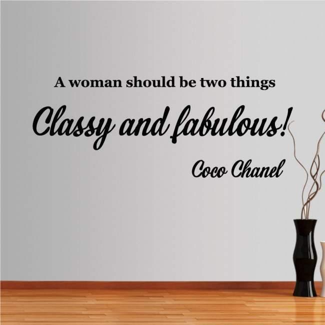 Αυτοκόλλητο τοίχου φράσεις. A woman should be two things...
