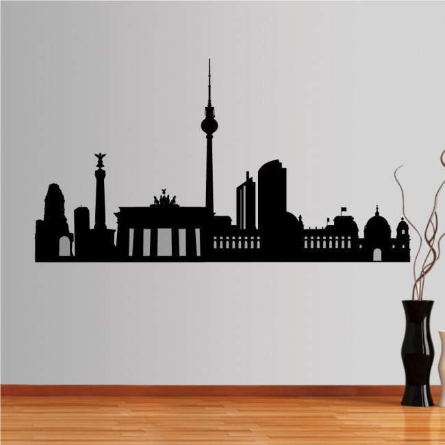 Αυτοκόλλητο τοίχου Βερολίνο, Περίγραμμα σημαντικών κτιρίων