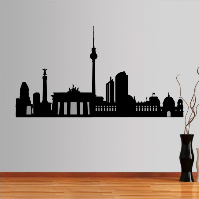 Wall stickers Berlin, Outline of important buildings