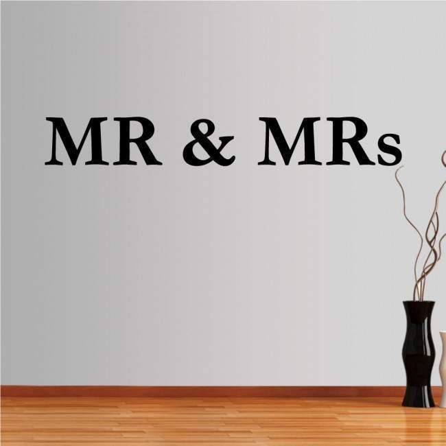 Αυτοκόλλητο τοίχου φράσεις. MR and MRs