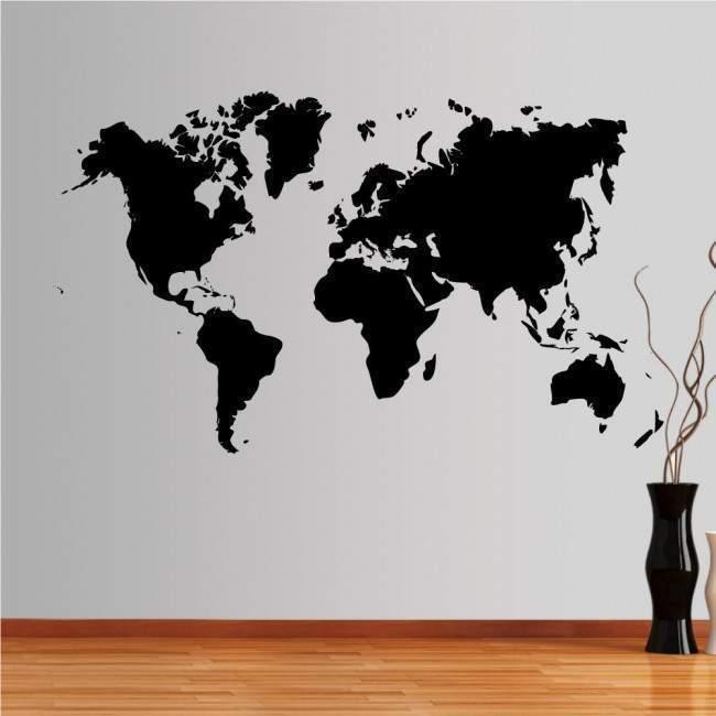 Αυτοκόλλητο τοίχου Χάρτης παγκόσμιος