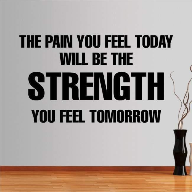 Αυτοκόλλητο τοίχου φράσεις. The pain you feel today...