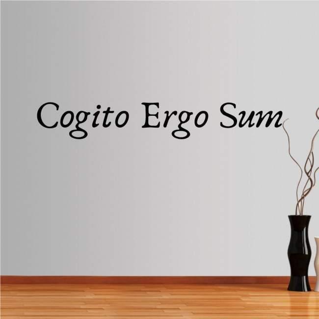 Αυτοκόλλητο τοίχου φράσεις. Cogito Ergo Sum
