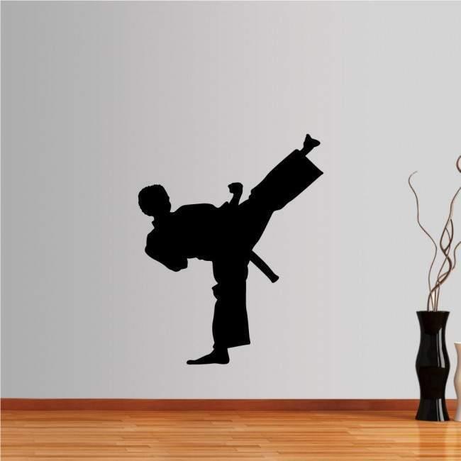 Αυτοκόλλητο τοίχου Πολεμικές τέχνες, χτύπημα ψηλά