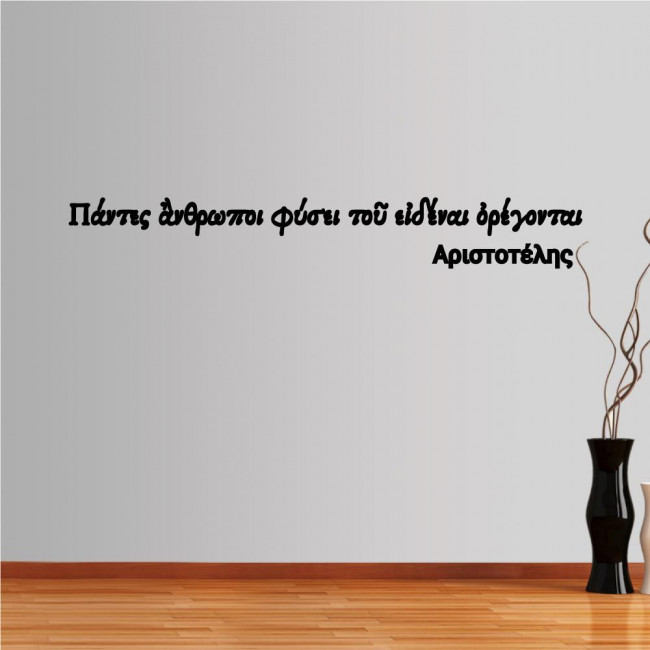 Wall stickers phrases  Aristotelis