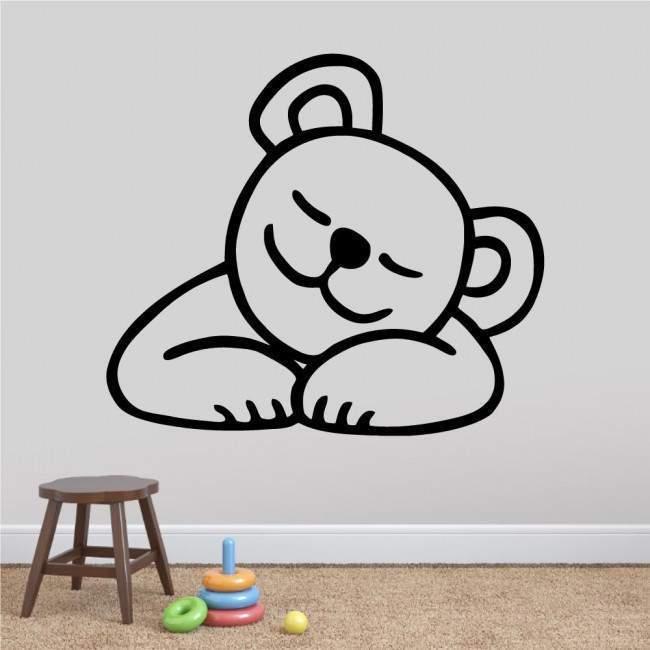 Kids wall stickers with bear Sleeping, Sleeping Bear