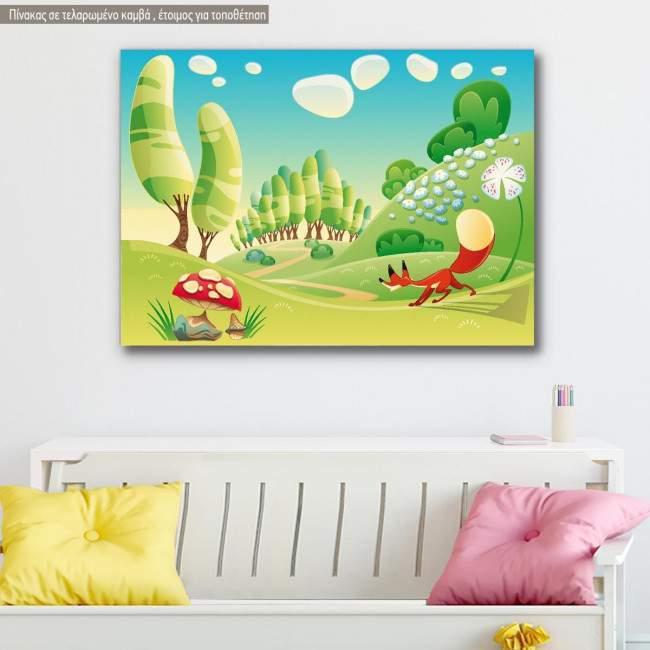 Kids canvas print Red fox