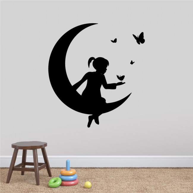 Kids wall stickers Moon and butterflies