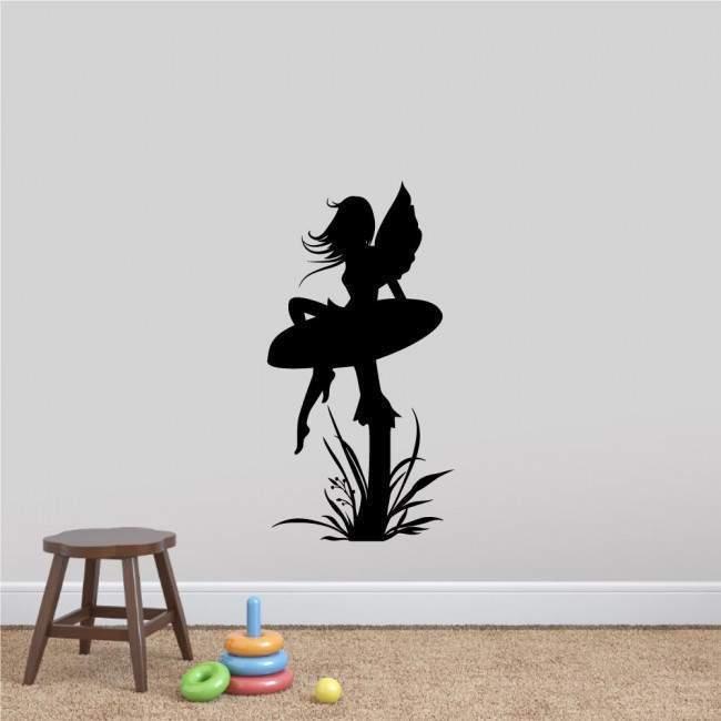 Αυτοκόλλητα τοίχου παιδικά νεράιδα και μανιτάρι, Mushroom fairy