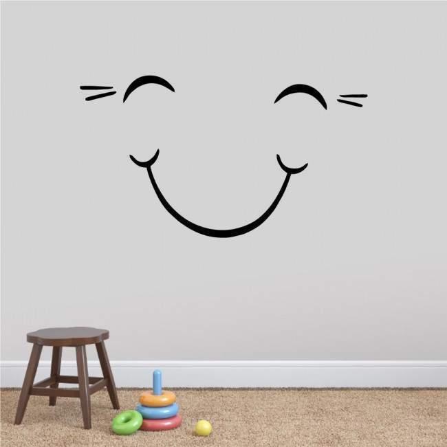 Αυτοκόλλητα τοίχου παιδικά χαμόγελο, Smile