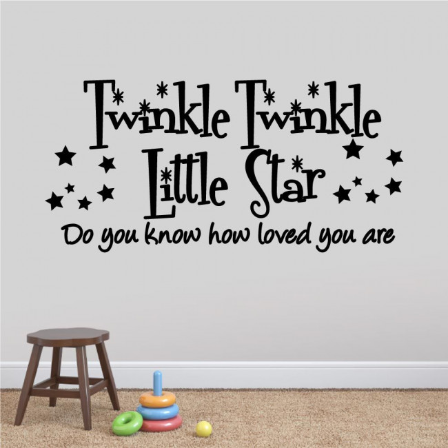 Kids wall stickers Twinkle Twinkle Little star