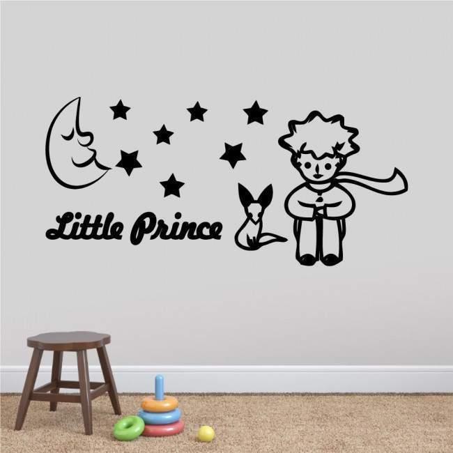Αυτοκόλλητα τοίχου παιδικά Μικρός πρίγκηπας και αλεπού