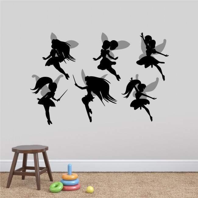 Αυτοκόλλητα τοίχου παιδικά, Χαριτωμένες Νεράιδες σετ 2