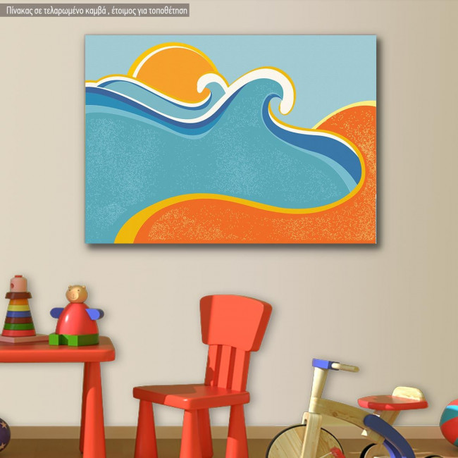 Canvas print Sea and sand