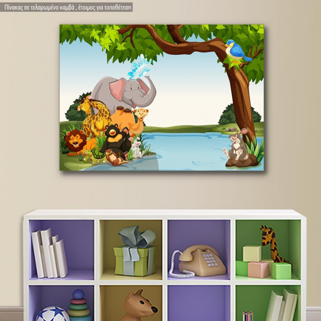 Kids canvas print Animal friends