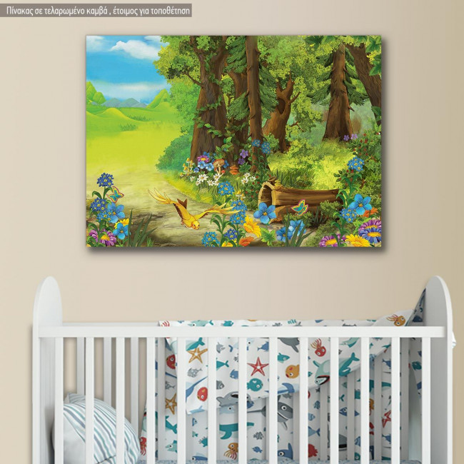 Kids canvas print Forest scene