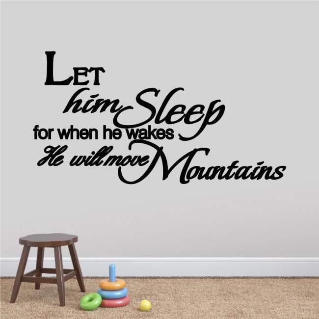 Αυτοκόλλητα τοίχου παιδικά ευχή Let him - her sleep