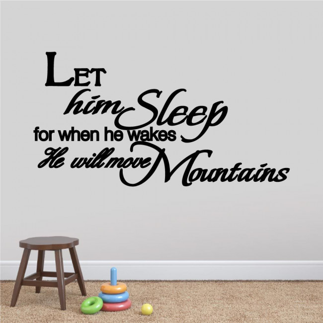 Kids wall stickers Let him - her sleep