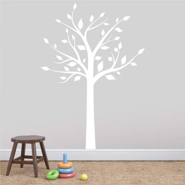 Αυτοκόλλητα τοίχου παιδικά μεγάλο λευκό δέντρο, Elegant tree