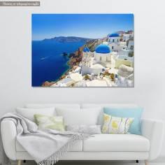 Canvas print  Santorini instances