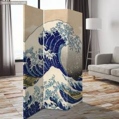 Παραβάν The great wave off Kanagawa, Hokusai
