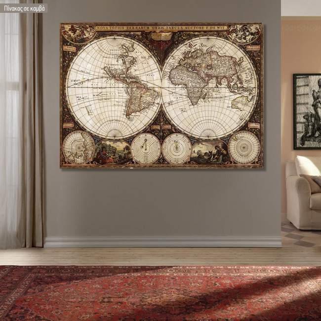 Canvas print World vintage map I