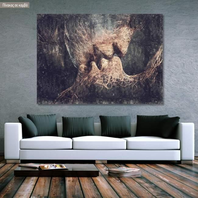 Canvas print Silent kiss