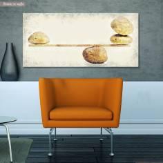 Canvas print Zen stone scales, panoramic